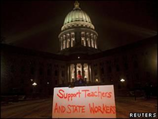 Manifestación  en Wisconsin