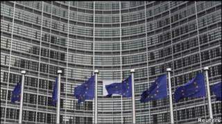 Прапори ЄС у Брюсселі