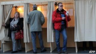 На избирательном участке в Таллине