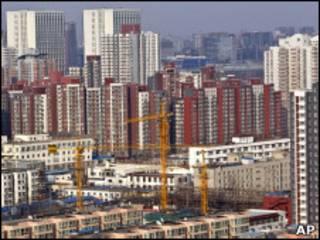 Construção em Pequim/AP