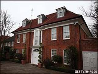 Casa ocupada em Hampstead/Getty
