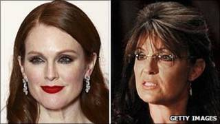 Julianne Moore (trái) và Sarah Palin