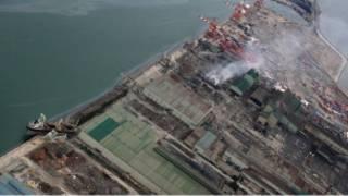 аэроснимок Фукусимской АЭС