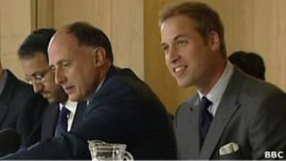 William con Jamie Lowther-Pinkerton y Miguel Head