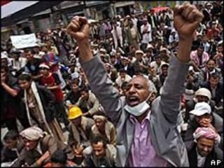 Protesto em Sanaa, 16 de março/AP