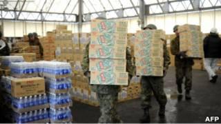 Доставка помощи в Японию