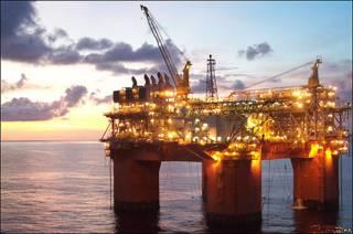 Plataforma de extracción petrolera (foto archivo)