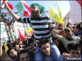 تظاهرات طرفداران حزب الله لبنان علیه حکومت بحرین