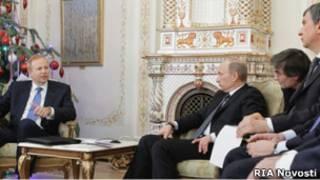 Встреча главы ВР Роберта Дадли с Владимиром Путиным