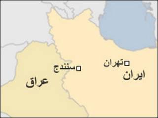 نقشه سنندج