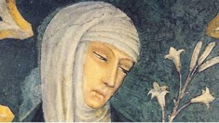 Santa Catalina de Siena (Fresco en la iglesia de San Dominico, Siena)