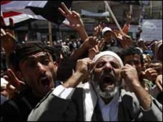 Masu zanga zanga a Yemen