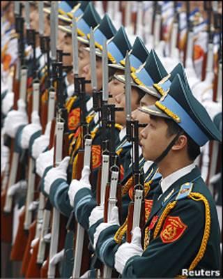 Đội danh dự của Việt Nam hôm 9/3/2011