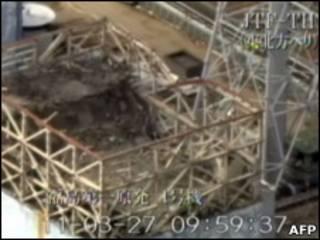 Imagem de reator da usina de Fukushima