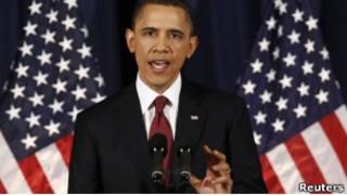 Барак Обама выступает с речью о Ливии