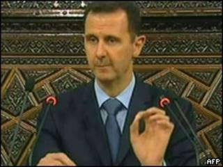 Assad, durante seu discurso televisionado