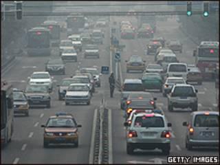 Emissões de carros em Pequim, na China (Getty Images)