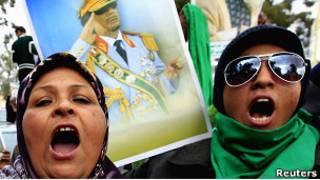 Манифестация сторонников Каддафи в Триполи