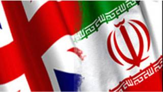 پرچم بریتانیا و ایران