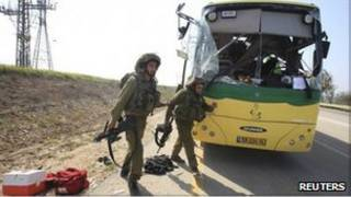 اتوبوس مورد حمله در اسرائیل