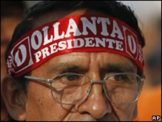 Simpatizante de Humala durante eleição deste domingo