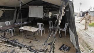 حمله نیروهای عراقی به کمپ اشرف