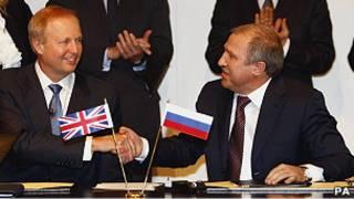 """Главы BP и """"Роснефти"""" подписывают соглашение"""