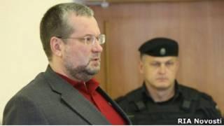 Подсудимый Николай Капранов в зале суда села Кош-Агач