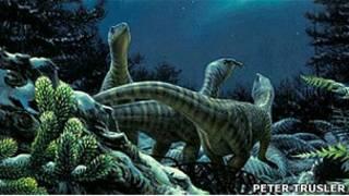 Dinosaurios de noche en Antártida