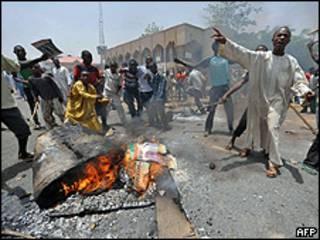 Protestos na cidade de Kano, norte da Nigéria (AFP/Getty)