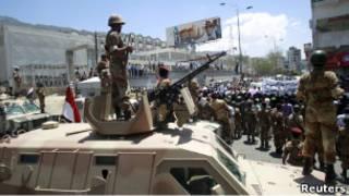 Солдаты йеменской армии