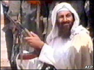 Vídeo mostra Bin Laden durante treinamento em 2001 (Foto: AFP)