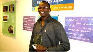 Dieudonne Gahizi n'agashimwe kiwe ku biro vya BBC i Londres