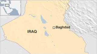 peta lokasi Baghdad