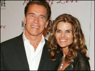 Ông Schwarzenegger và bà Maria Shriver