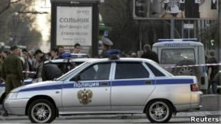 Полицейский автомобиль в Ростове-на-Дону
