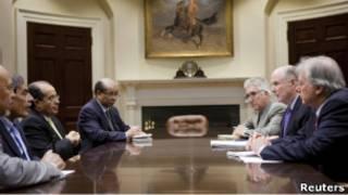Встреча ливийских оппозиционеров с главой соета по нацбезопасности США