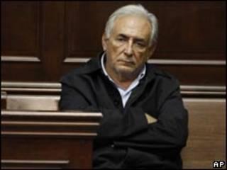Strauss-Kahn em audiência na Corte Criminal de Manhattan (AP)