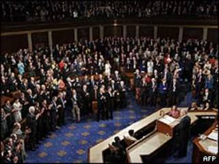 Netanyahu no Congresso americano (AFP)