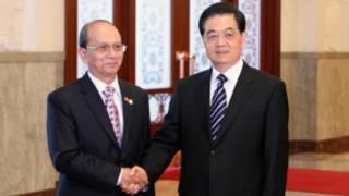 Persiden Thein Sien dan PM Wen Jiabao