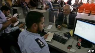 Проверка документов пограничниками
