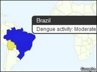 Google Dengue Trends. | Foto: Google