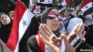 Демонстранты требуют свержения правительства Асада