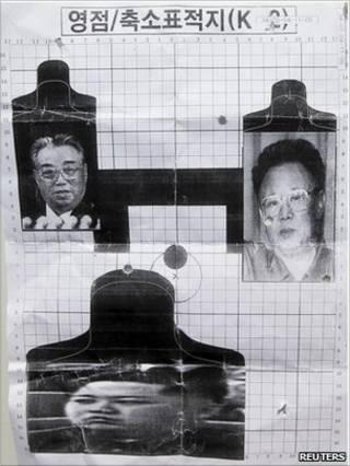 Мишени с фотографиями руководства Северной Кореи