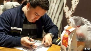 Претендент на работу в закусочной McDonald's