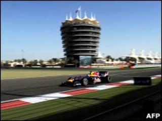 Vettel no Bahrain/AFP