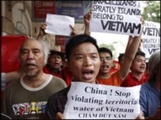Wasu 'yan Vietnam suna zanga-zanga kan China