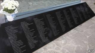 Memorial das vítimas do AF 447 (AFP)