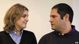 Marcela e Felipe Noble, herdeiros do Grupo Clarín (AP)