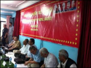 माओवादी बैठकमा नेताहरु